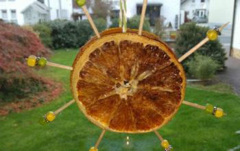 Orangensterne basteln