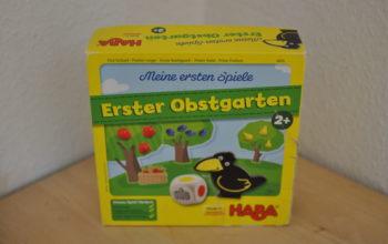 Vorstellung und Erfahrungsbericht Kinderspiel Erster Obstgarten ab 2 Jahren