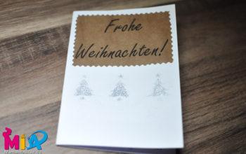 Weihnachtskarten mit kleinen Kindern basteln – zwei einfache und schnell umsetzbare Ideen